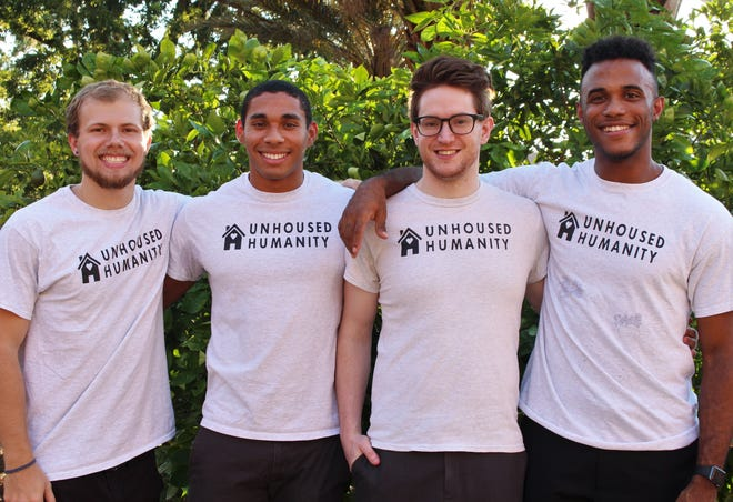 The current Unhoused Humanity team, from left to right: Brystin Ivey, Jemal Le Grand, Daren McCurdy, and Sasheem Snellf.