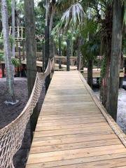 The boardwalk a the new children's garden.