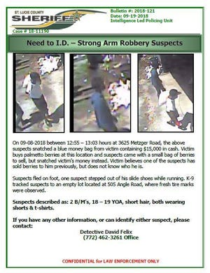 Help needed in robbery of $15,000
