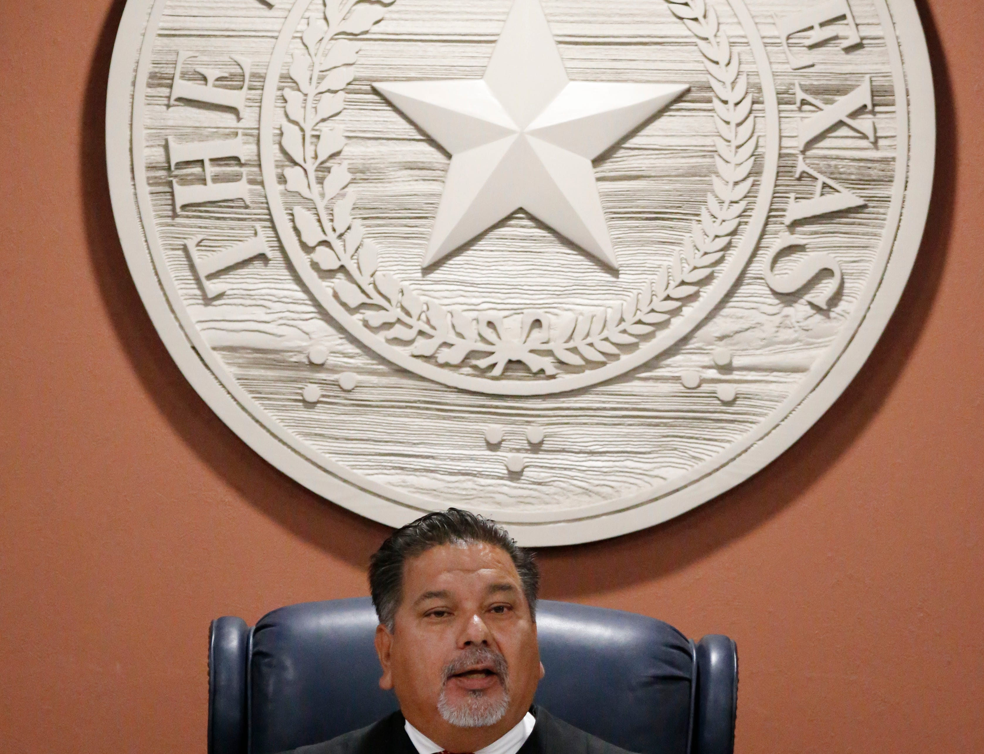 "Judge Sam Medrano, who presides over the 409th District Court, made several key rulings leading up to Villegas' third trial. Medrano ordered in 2014 that the confession Villegas gave to El Paso police could not be used in his third trial. He ruled that police violated Villegas' civil rights by threatening and intimidating him during their interrogation of him. He also threw out more than 30 jailhouse recordings including conversations between Villegas, his family, friends and local businessman John Mimbela Sr. In one recordings, Villegas tells his mother that he is tired of praying, that he is a sinner and ""not innocent,"" according to court documents. Another recording, Villegas tells a friend he ""refers to himself as a sinner,"" but explained that ""like when I was saying that I wasn't innocent, I'm talking about my innocence as far as a sinner. ... I wasn't talking about the case."" Medrano ruled that the recordings were inadmissible as evidence because they were not relevant to the case and that the statements were hearsay."