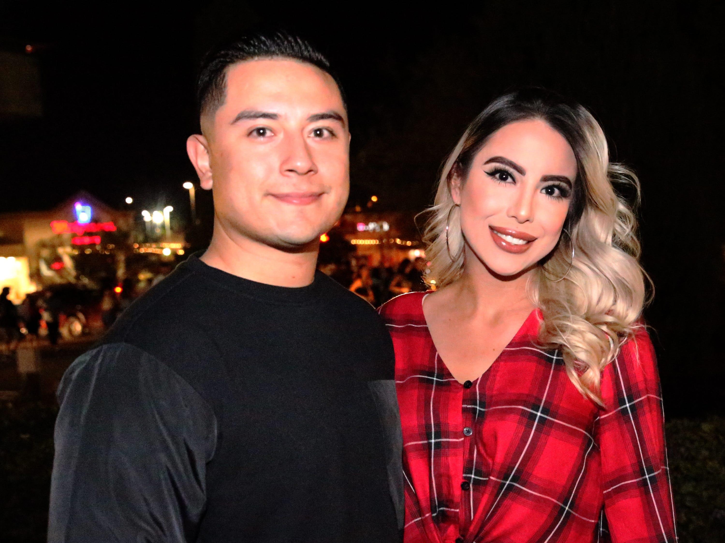 Victor Sanchez and Perla Ortiz.