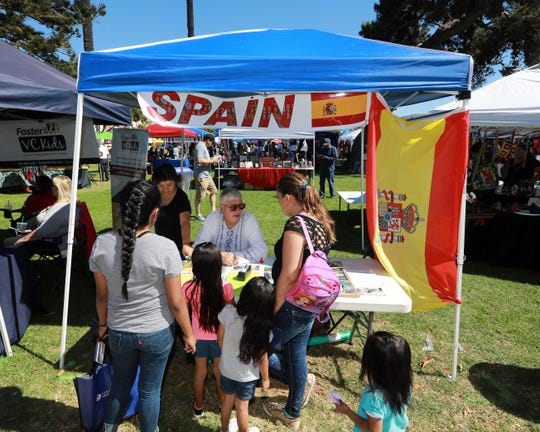One of the international booths -- this one representing Spain -- at last year's Oxnard Multicultural Festival.