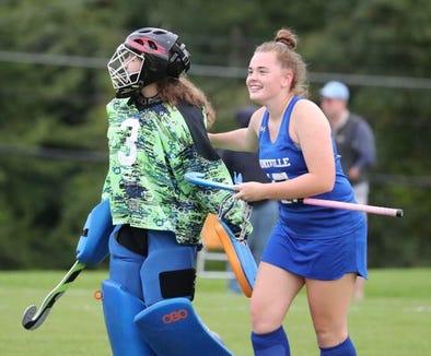 Bronxville junior goalie Caitlin Mooney (l) and senior defender Jenny Pettee (r).jpg