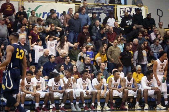 Mount Vernon defeated Pine Bush 63-58 in the boys basketball regional championship game at Pace University in Pleasantville March 9, 2018.