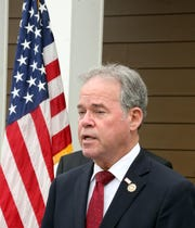 Rockland County Executive Ed Day talks about the 2019 budget of $709 million that would raise 2.9 percent in county property taxes, an estimated $37.70 per taxpayer during a press conference in New City Oct. 1, 2018.