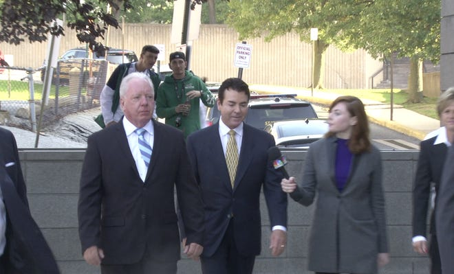 Papa John's founder John Schattner is in Wilmington on Monday seeking documents from the company that ousted him.