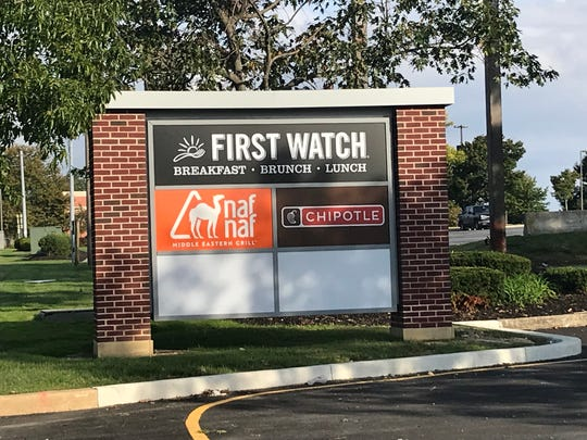 The new Stanton shopping center near Delaware Technical Community College will have a First Watch, Naf Naf Middle Eastern Grill and Chipotle Grill.