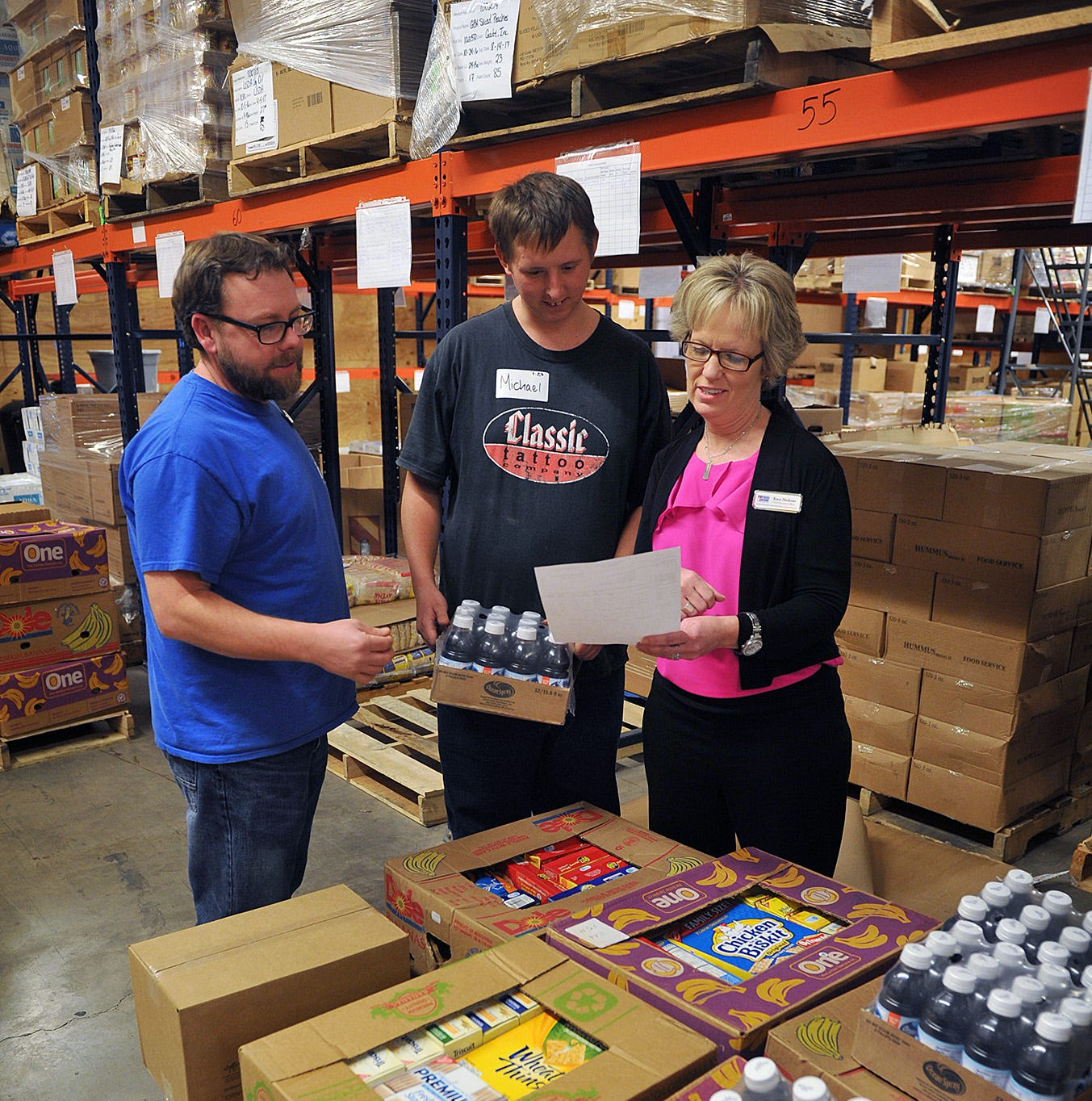 Pantry at the Wichita Falls Area Food Bank critically low