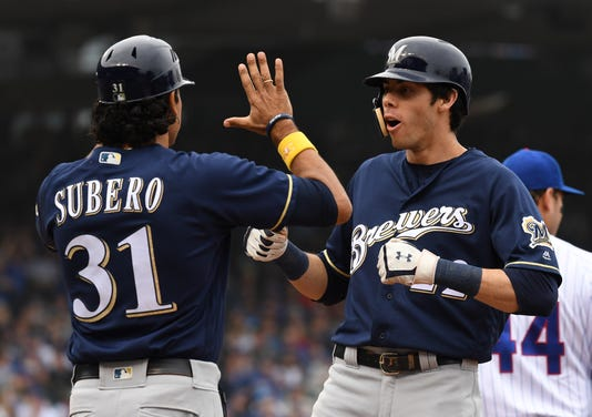 Usp Mlb Milwaukee Brewers At Chicago Cubs S Bbn Chc Mil Usa Il