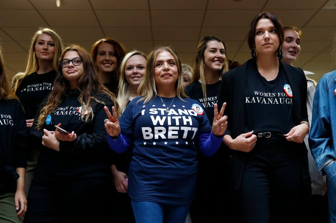 Supporters of Supreme Court nominee Brett Kavanaugh on Capitol Hill Sept. 27, 2018.