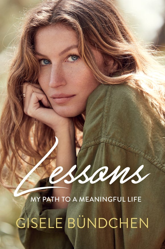"""The cover of Gisele Bündchen's book, """"Lessons."""""""