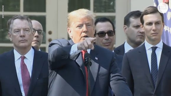 Trump avoids Kavanaugh question