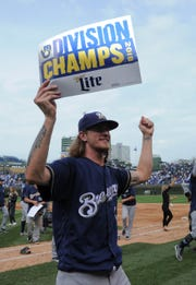 Milwaukee Brewers relief pitcher Josh Hader's sign tells the story.
