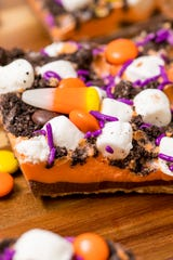 Halloween cookie bark is a way to recycle that leftover Halloween candy.