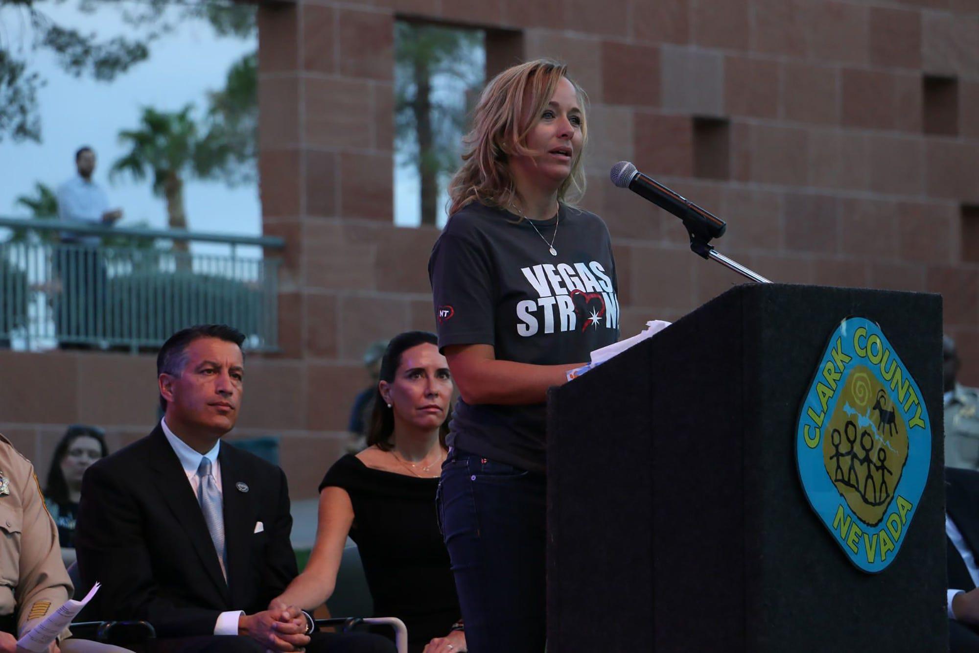 On Las Vegas shooting anniversary, a call for hope amid sadness
