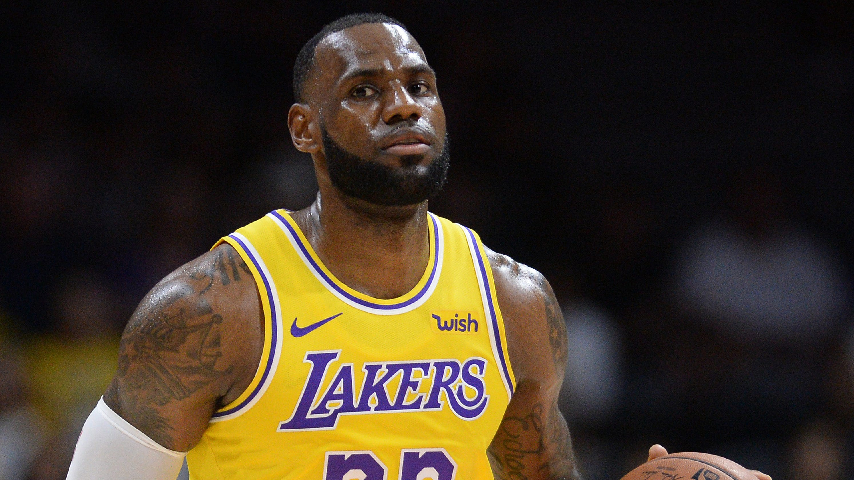 c3fa9831ff3 LeBron James  First Lakers game exactly as we expected