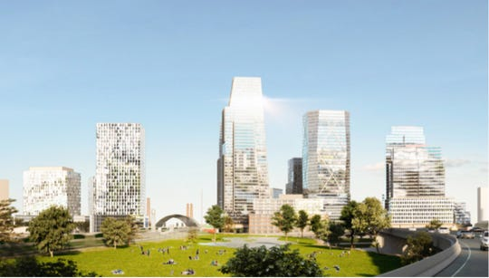 An artist's rendering of one of the proposed sites in Toronto's bid to house Amazon's second headquarters. This one is Toronto East Harbour Drive