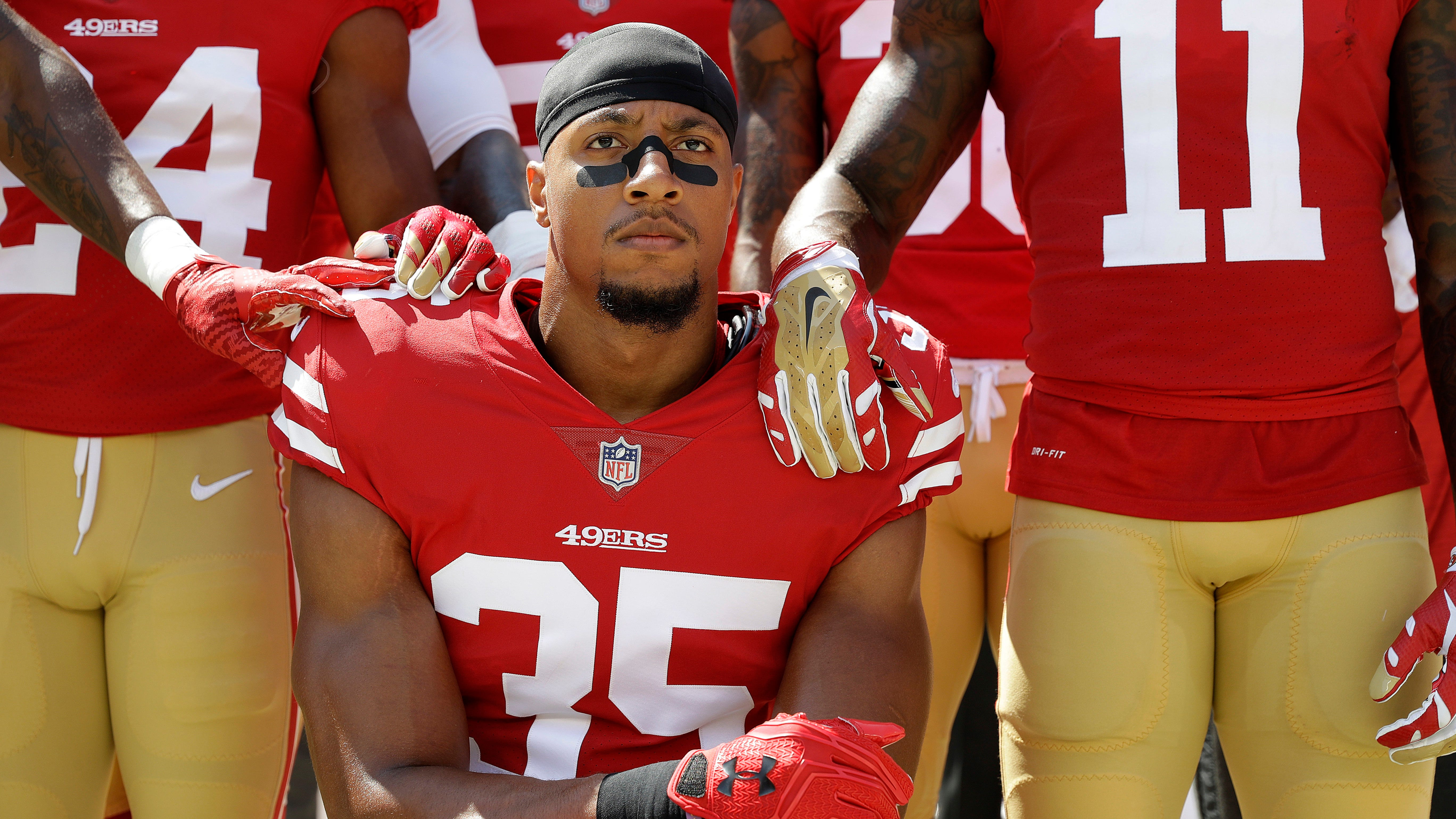 Carolina Panthers Eric Reid Weighs Whether To Protest During Anthem