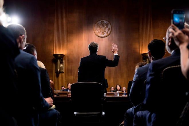 Supreme Court nominee Brett Kavanaugh on Sept. 27, 2018.