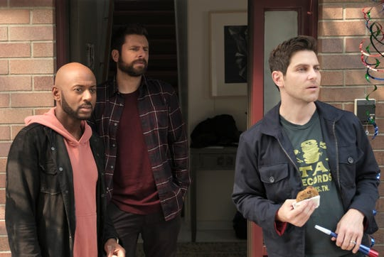 Romany Malco, left, James Roday and David Giuntoli play men already dealing with serious issues who must adjust to a friend's suicide in ABC's 'A Million Little Things.'