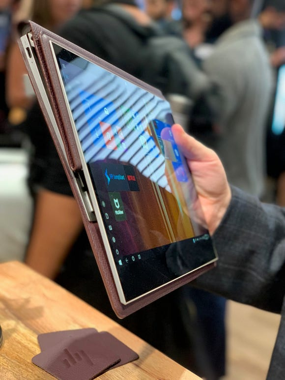 HP Spectre Folio is folded into a tablet.