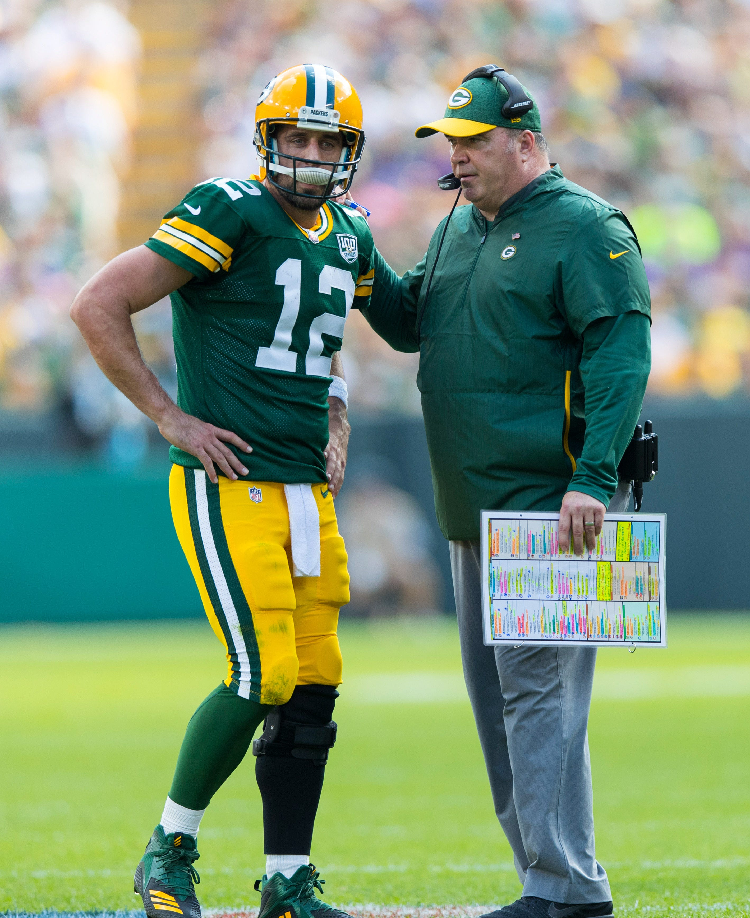 Packers coach Mike McCarthy downplays notion of rift with Aaron Rodgers