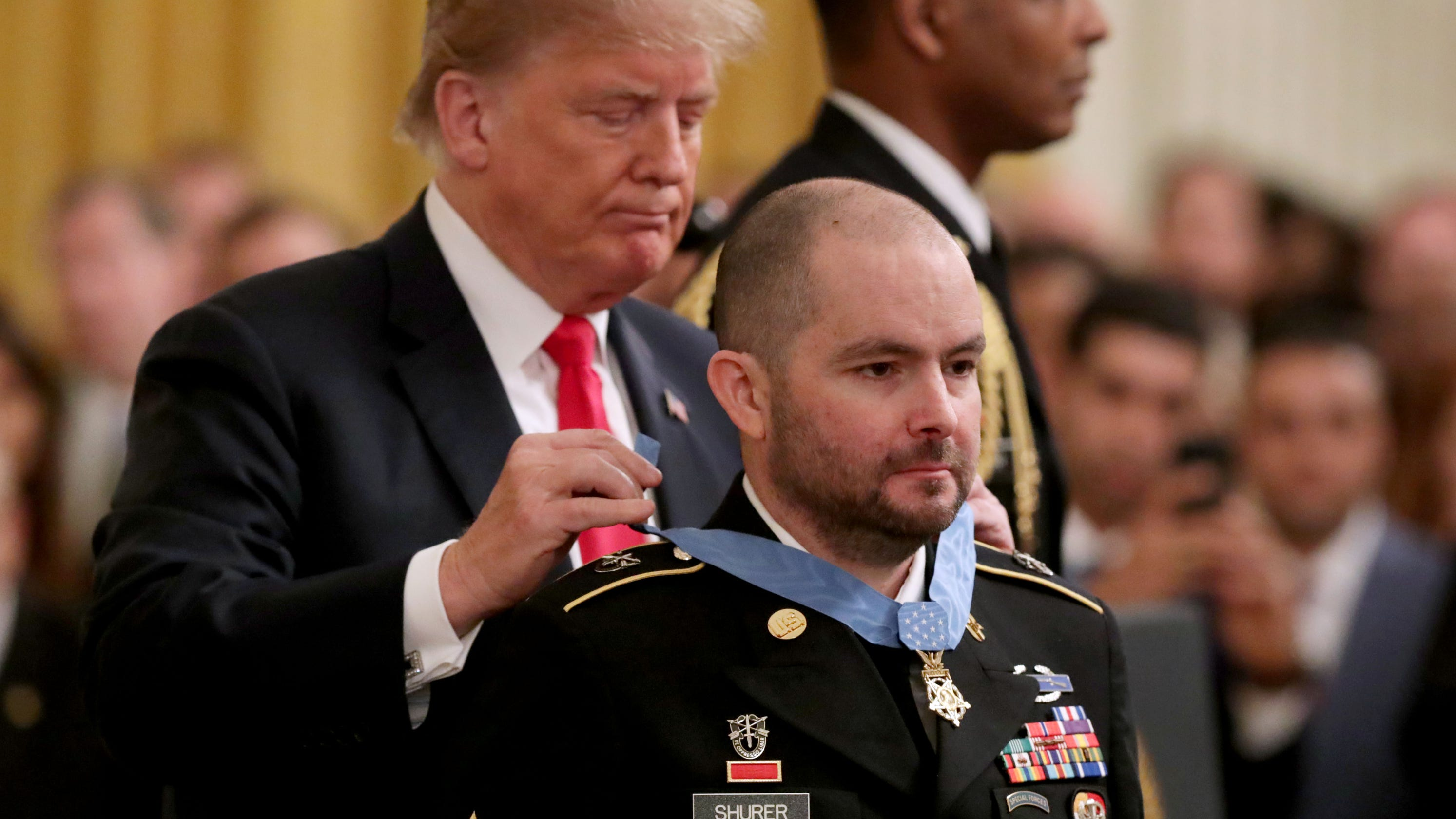 President Trump presents Medal of Honor to former Army medic