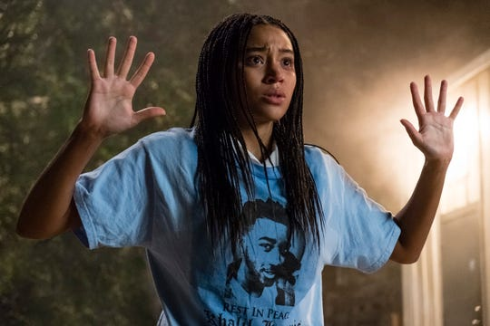 """Amandla Stenberg stars as an African-American teen whose friend is gunned down by a cop in """"The Hate U Give."""""""