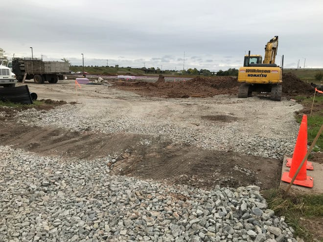Construction is underway on Evergreen Drive across from Badger Sports Park in Appleton.