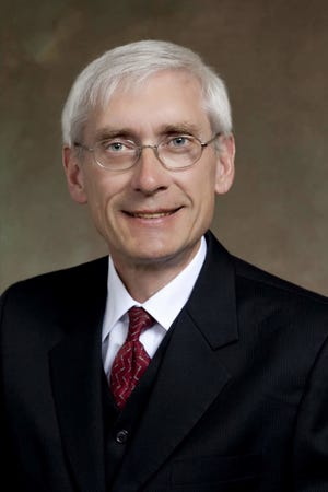 Democratic candidate for governor Tony Evers gives his thoughts on transportation and infrastructure on Tuesday at the D.J. Bordini Center in Appleton at a forum hosted by the Transportation Development Association.