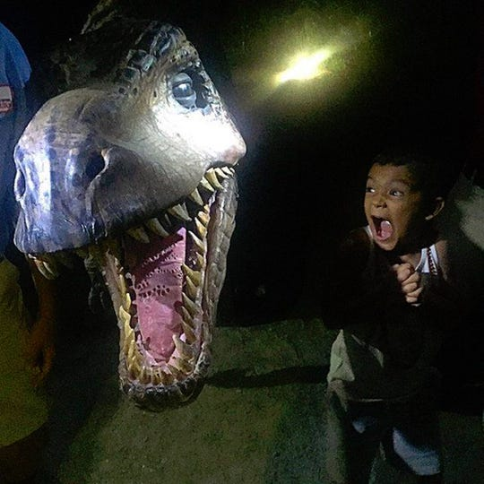 If a little bit of scariness is OK with your child, a T-Rex should suffice.