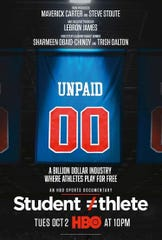 Promotional posted for 'Student Athlete.' an HBO documentary debuting Tuesday evening