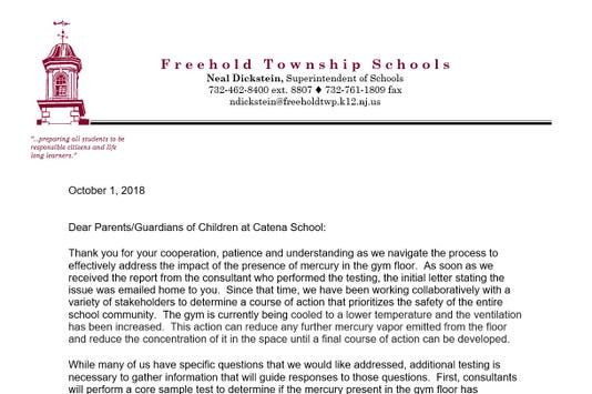 Freehold Township Schools Letter