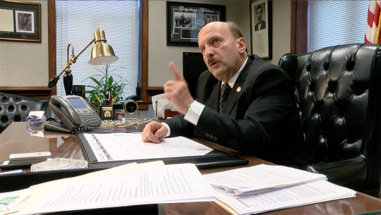 As his term draws to a close, Ocean County Prosecutor Joseph Coronato is shown during an interview at his Toms River office Wednesday, September 26, 2018.