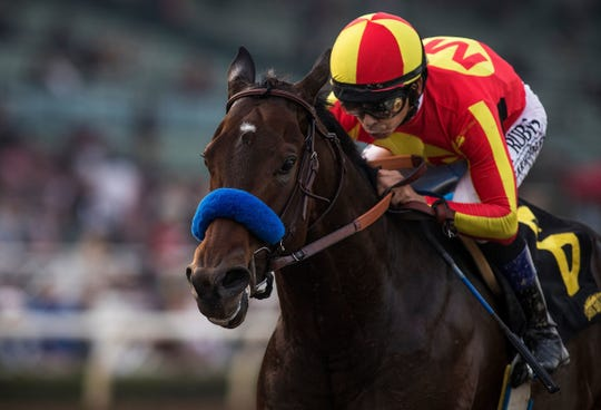McKinzie, with Mike Smith up, wins the Sham Stakes at Santa Anita Park.