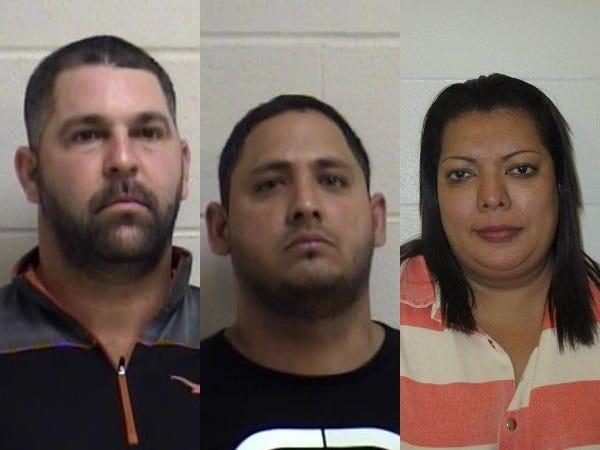 From left, Livan Delgado, Rolando Dominguez and Rose Patricia Hernandez.