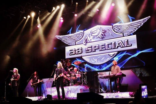 The southern rock band 38 Special makes its first appearance in Abilene, Texas.