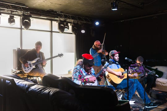 Bluegrass and other traditional music is part of the heritage in the Asheville area, but the mountains' largest city does not have a museum to honor top players. In this 2017 photo, the Bald Mountain Boys perform at the Asheville Music Hall.