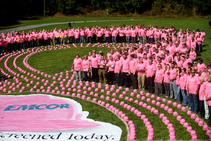 photos breast cancer awareness month 2018 pink hard hat event