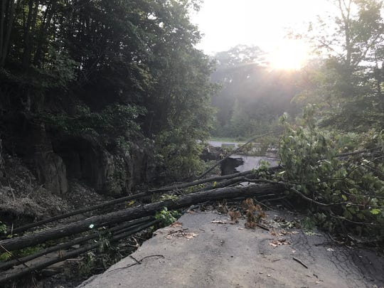 Flood damage off of Popes Ravine Road in Binghamton.