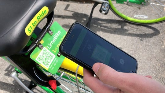 Unlock the LimeBike using the LimeBike app. Either take a picture of the QR code or type in the bike's number.