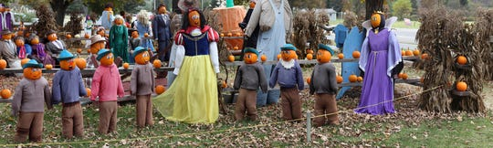 A scene from Snow White at the Iron Kettle Farm Pumpkin Festival in Candor in 2015.