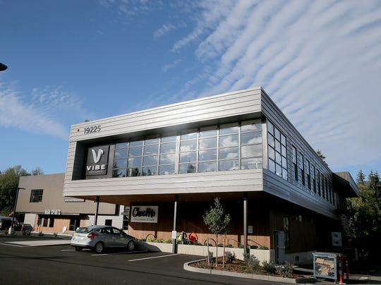 """The new Centennial building in Poulsbo, will soon be home to Vibe Coworks (coworking space), ChocMo (restaurant), High Spirits (""""destination"""" liquor store) and Crabtree Kitchen + Bar (restaurant)."""