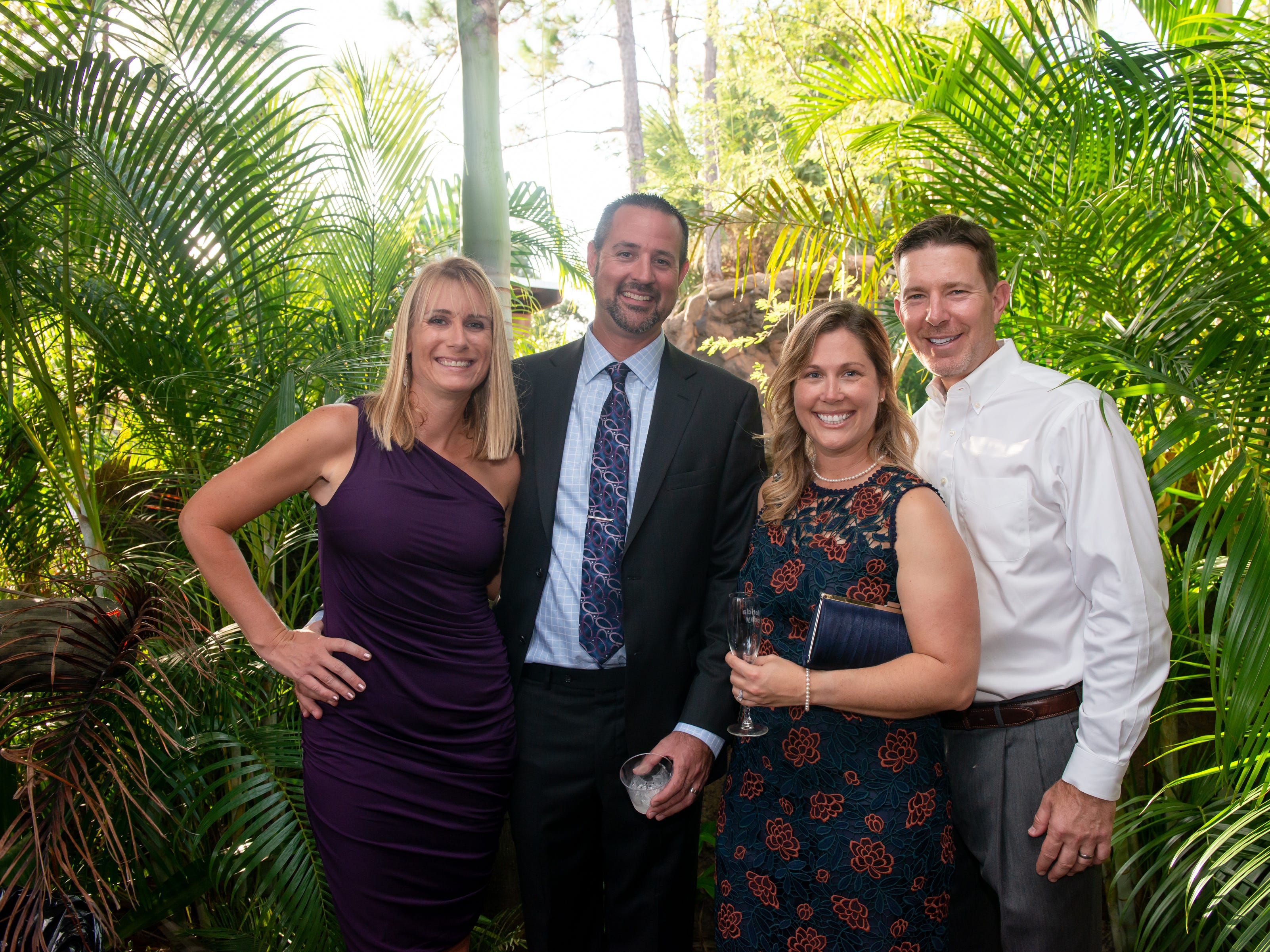 Samantha Gerrits, Mark Gerrits, Lauren Curington and Frank Curington at the James Beard Foundation Celebrity Chef Dinner held at the Brevard Zoo. (Photo by Amanda Stratford, for FLORIDA TODAY)