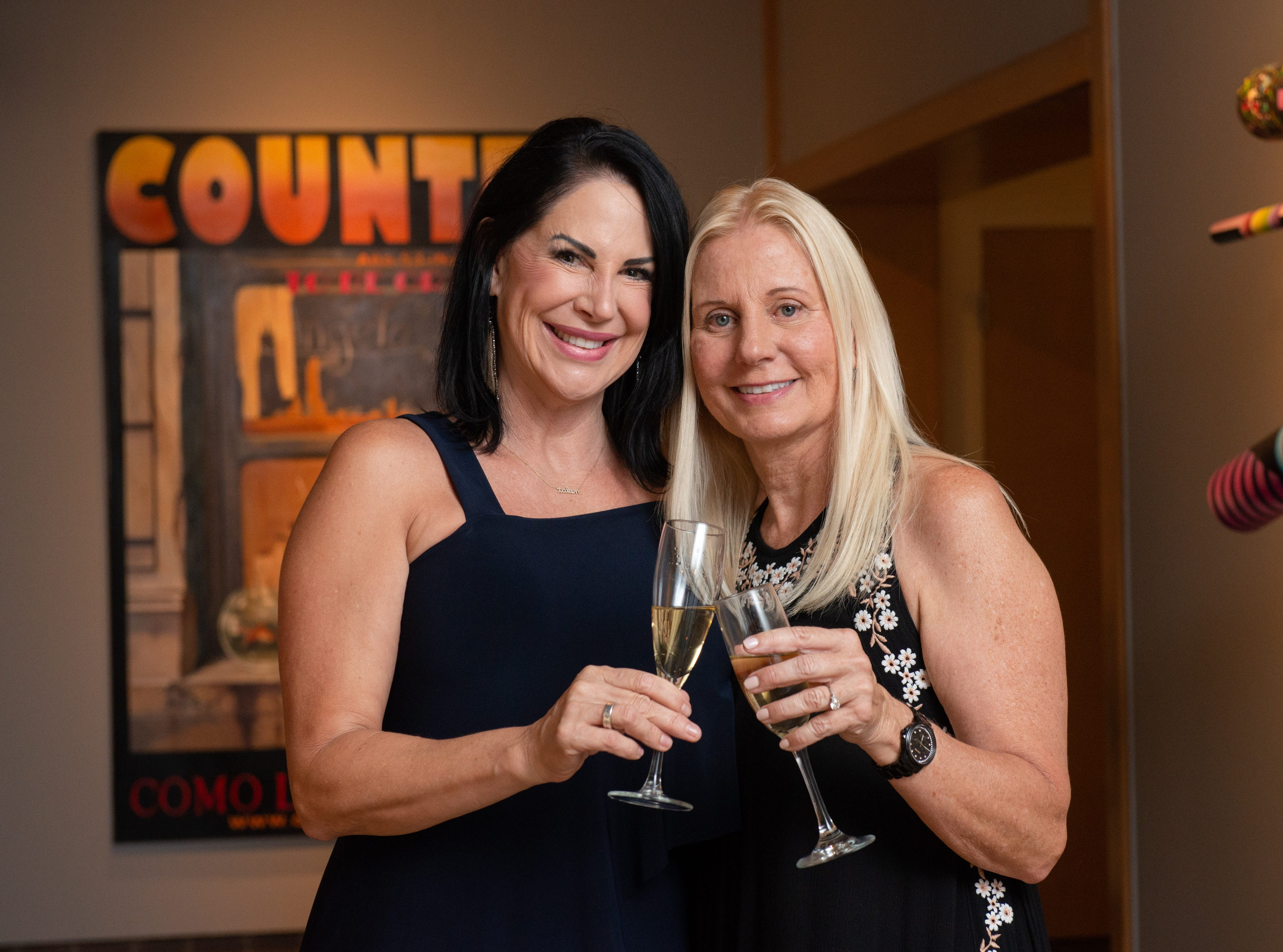 "Sandra Dee Russell and Loretta Grella Sorbello during an ""Evening of Arts"" at the Foosaner Art Museum."