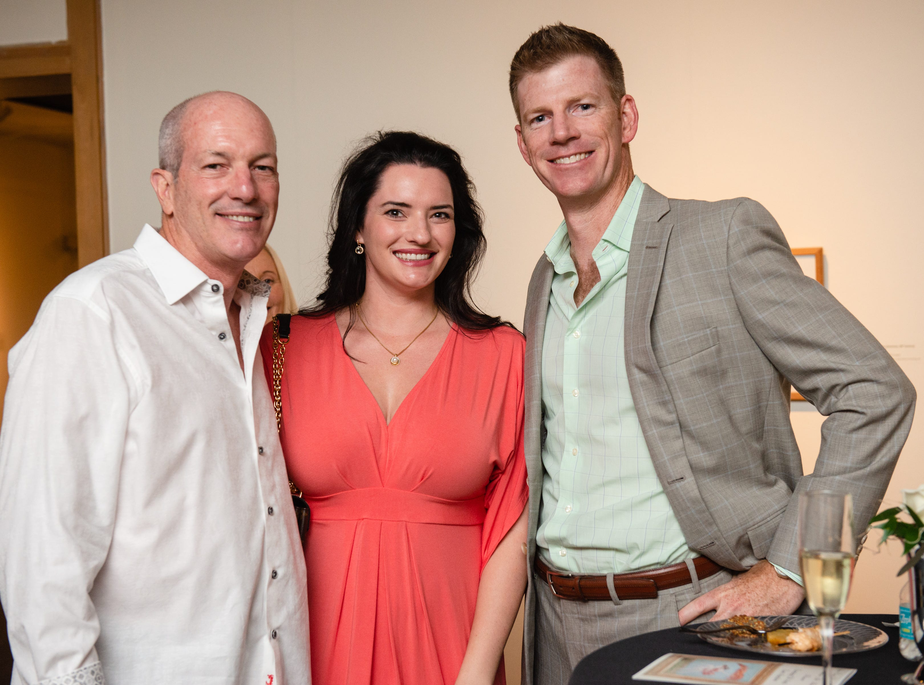"Jim Ronaldson, Kate McGill and Ryan McGill during an ""Evening of Arts"" at the Foosaner Art Museum."