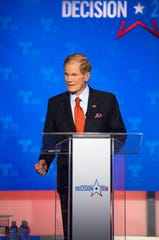 Sen. Bill Nelson at the first Senate debate in Miramar, FL on Tuesday.