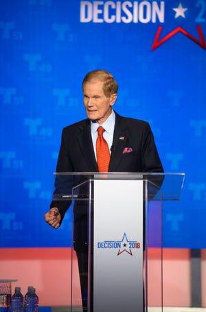 Sen. Bill Nelson during a 2018 debate.