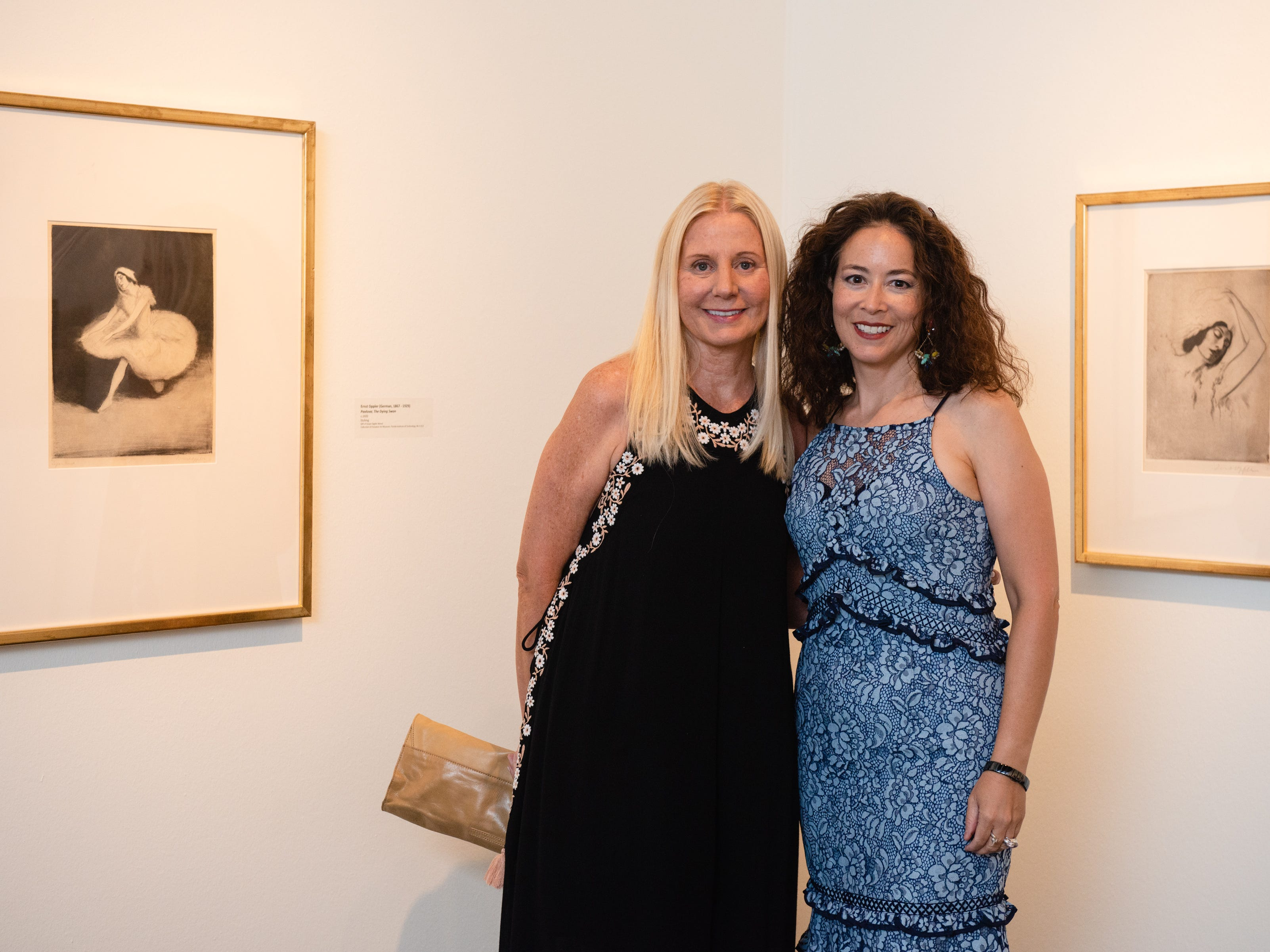 "Loretta Grella Sorbello and Nani Golden during an ""Evening of Arts"" at the Foosaner Art Museum."