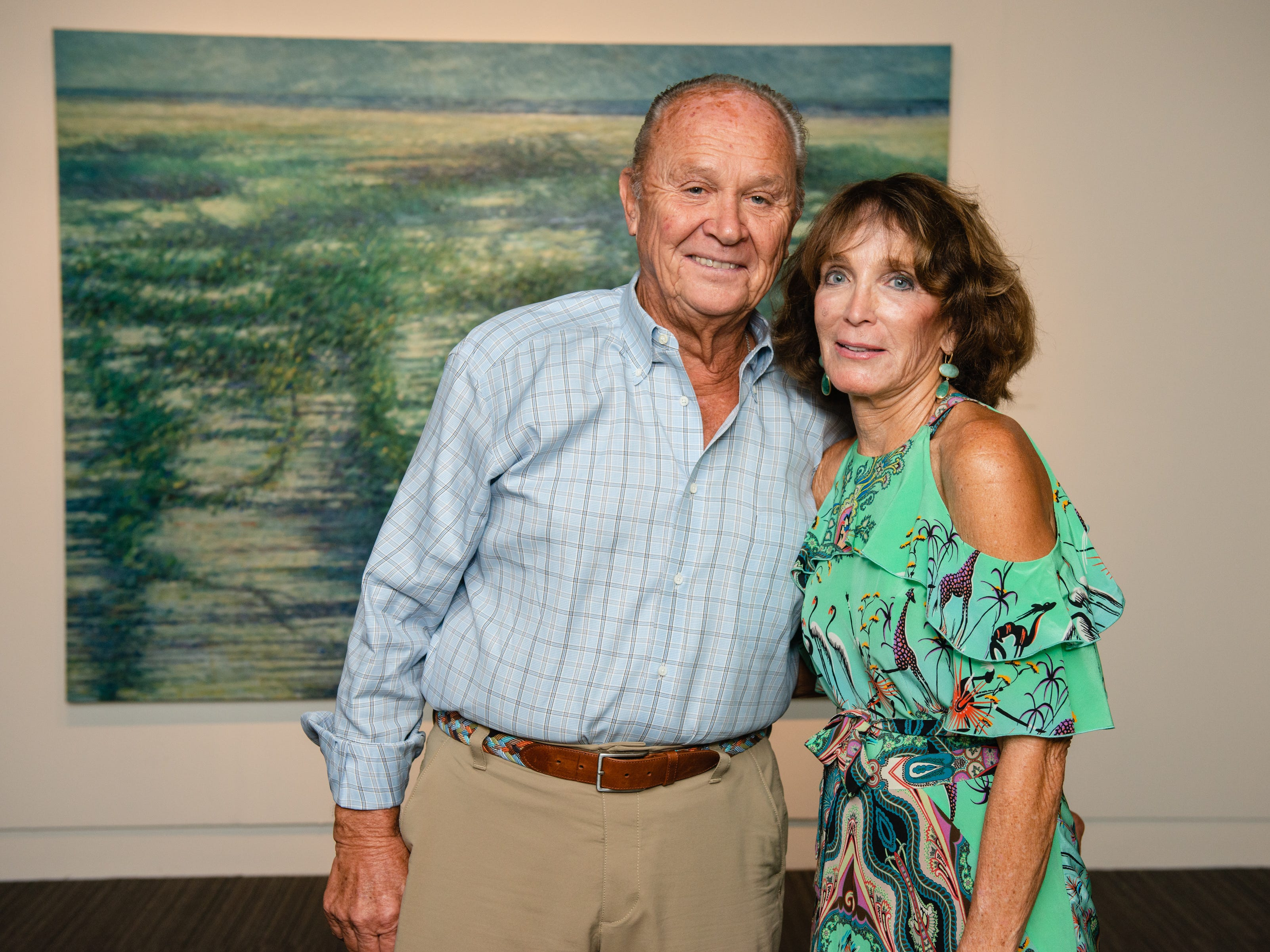 "Polly and Tom Molnar during an ""Evening of Arts"" at the Foosaner Art Museum."